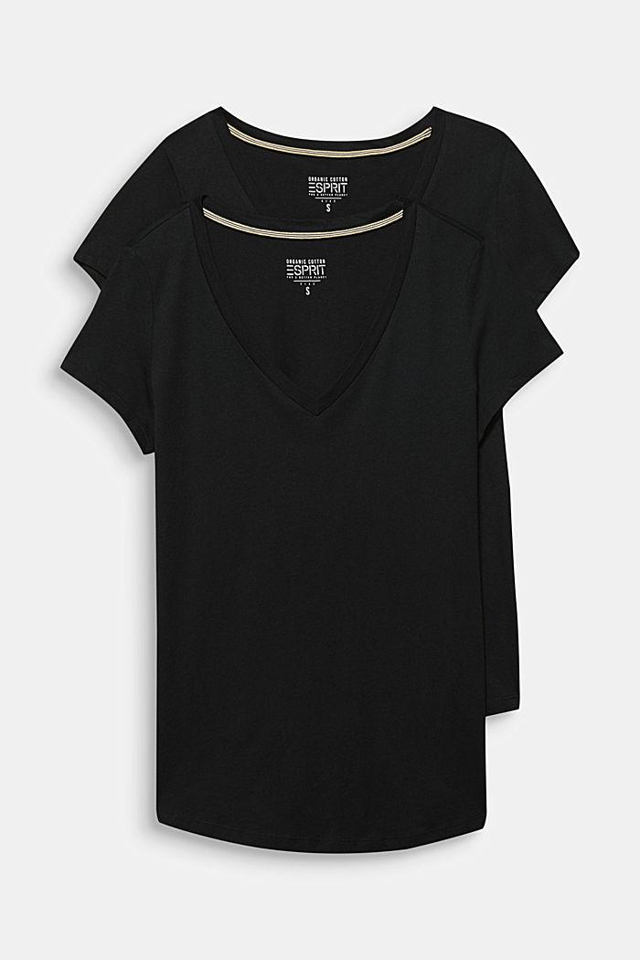 2er-Pack: T-Shirts aus Baumwoll-Mix