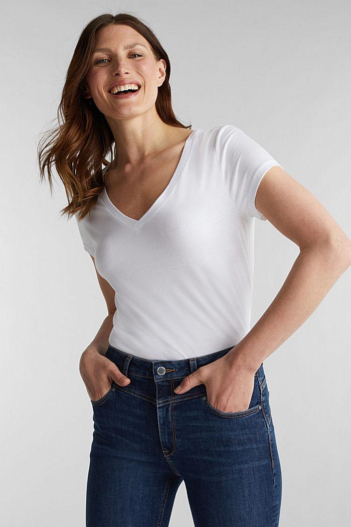 2er-Pack: T-Shirts aus Baumwoll-Mix, WHITE, detail image number 0