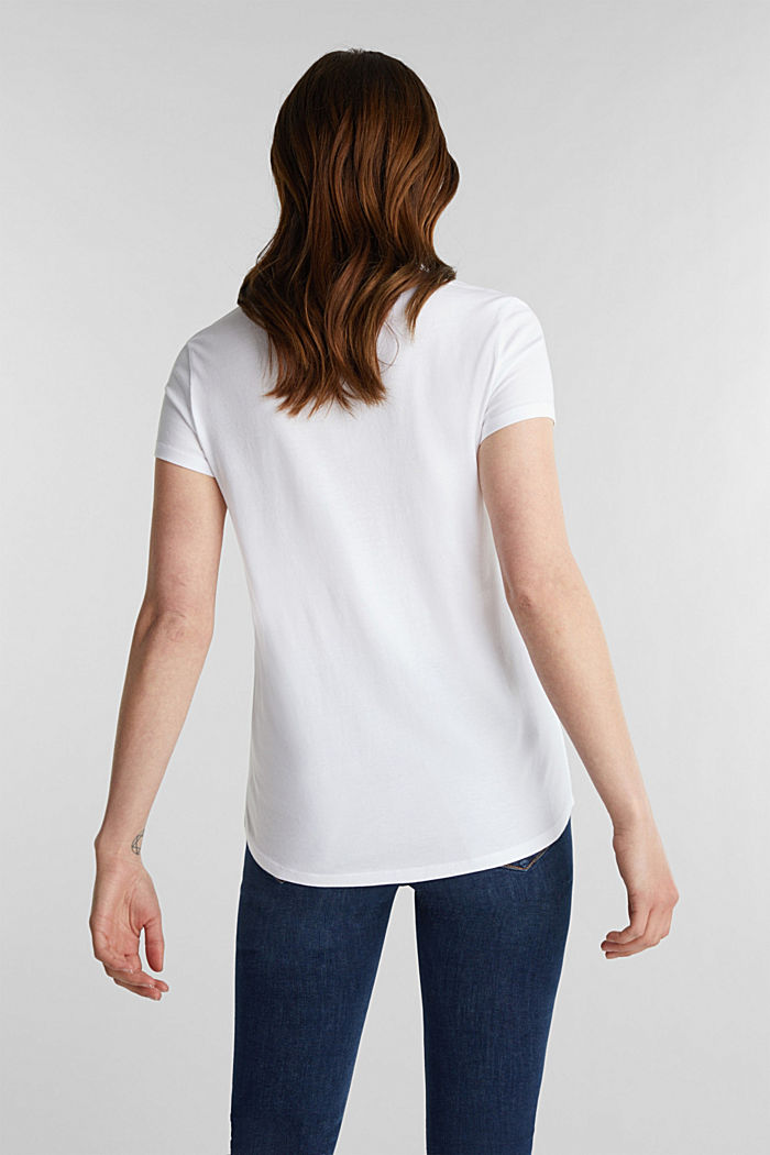 2er-Pack: T-Shirts aus Baumwoll-Mix, WHITE, detail image number 2