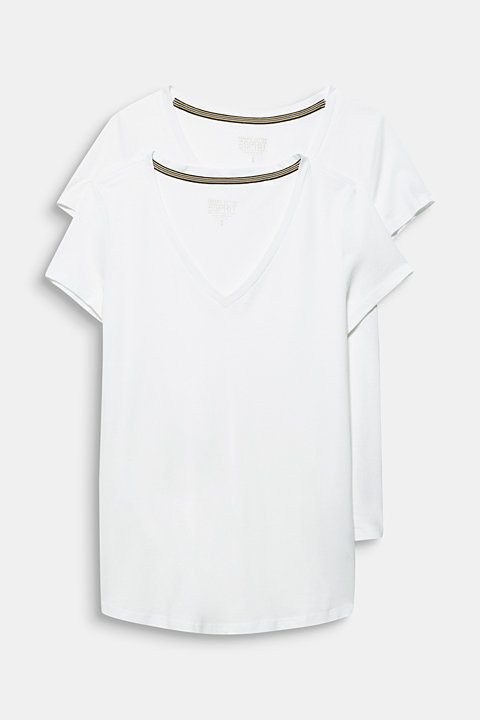 Double pack: T-shirts made of a cotton blend