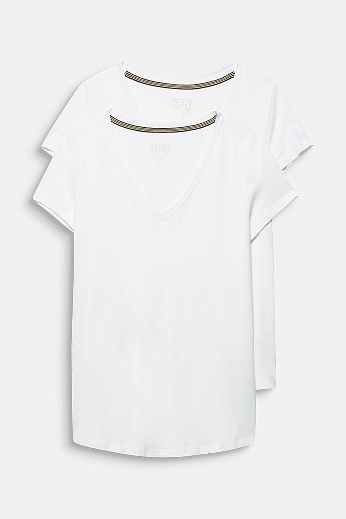 2er-Pack: T-Shirts aus Baumwoll-Mix, WHITE, detail image number 6
