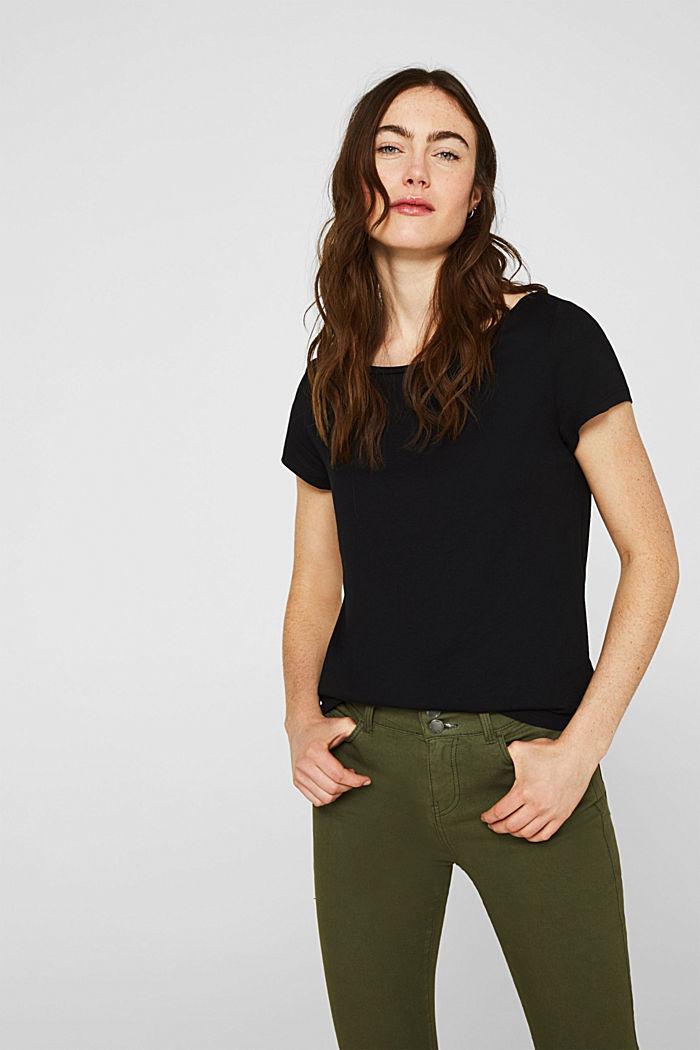 2er-Pack T-Shirts aus Baumwolle und Modal, BLACK, detail image number 0