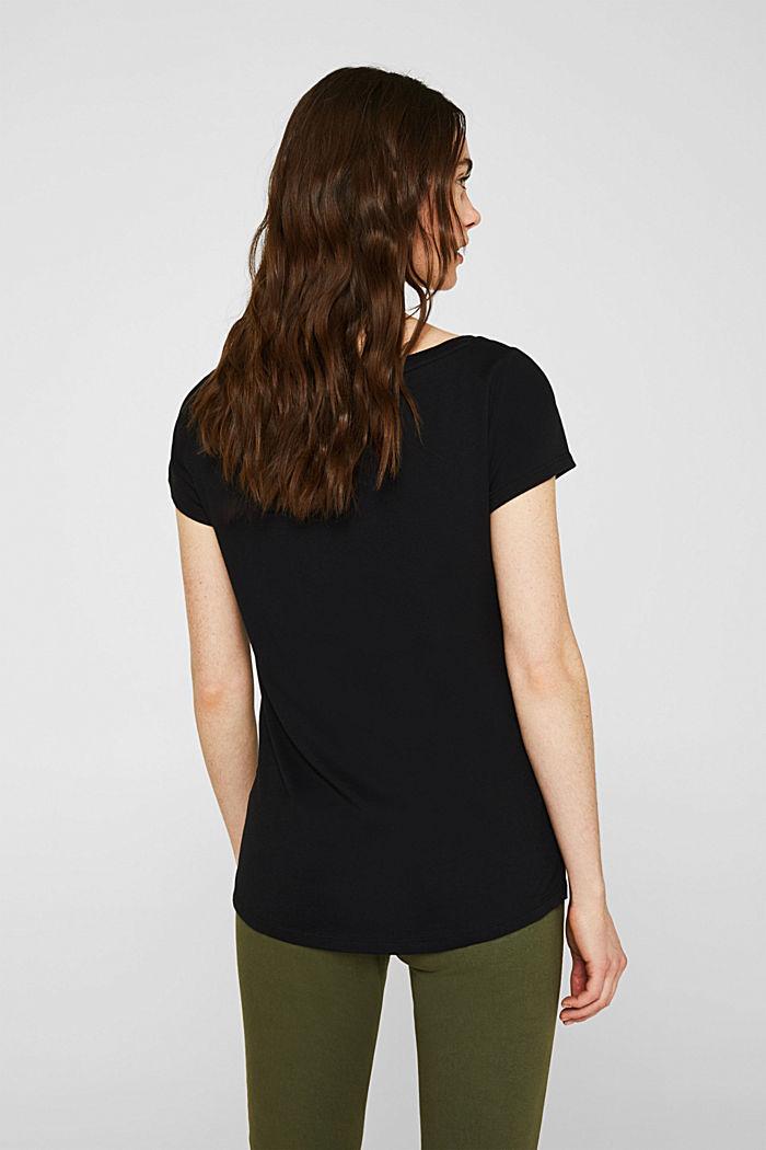 2er-Pack T-Shirts aus Baumwolle und Modal, BLACK, detail image number 2