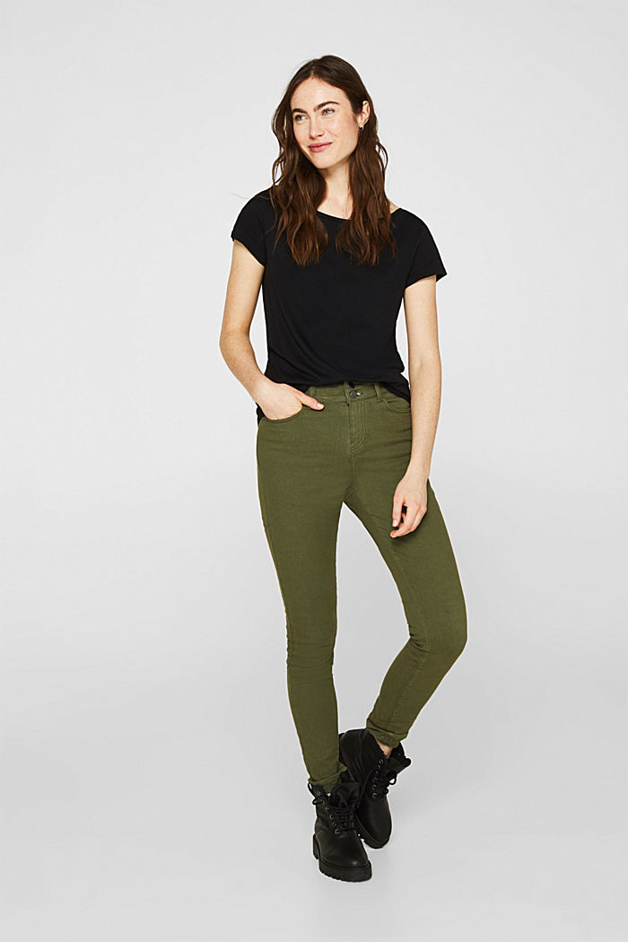 2er-Pack T-Shirts aus Baumwolle und Modal, BLACK, detail image number 5