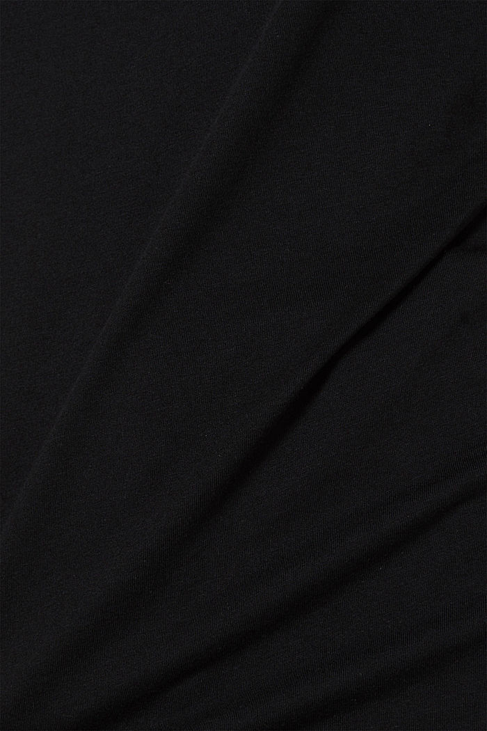 2er-Pack T-Shirts aus Baumwolle und Modal, BLACK, detail image number 3