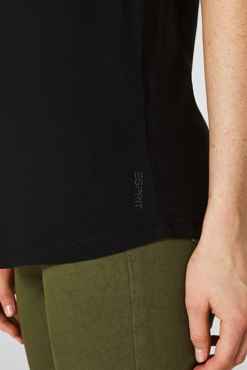 Double pack of T-shirts made of cotton and modal, BLACK, detail image number 4