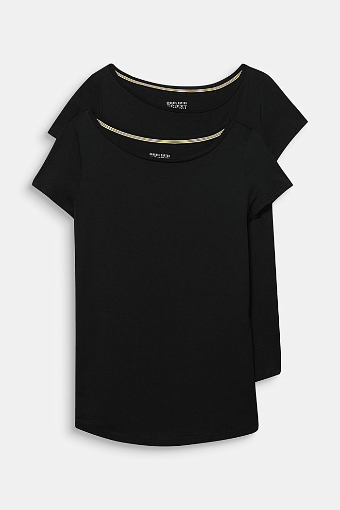 2er-Pack T-Shirts aus Baumwolle und Modal, BLACK, detail image number 6