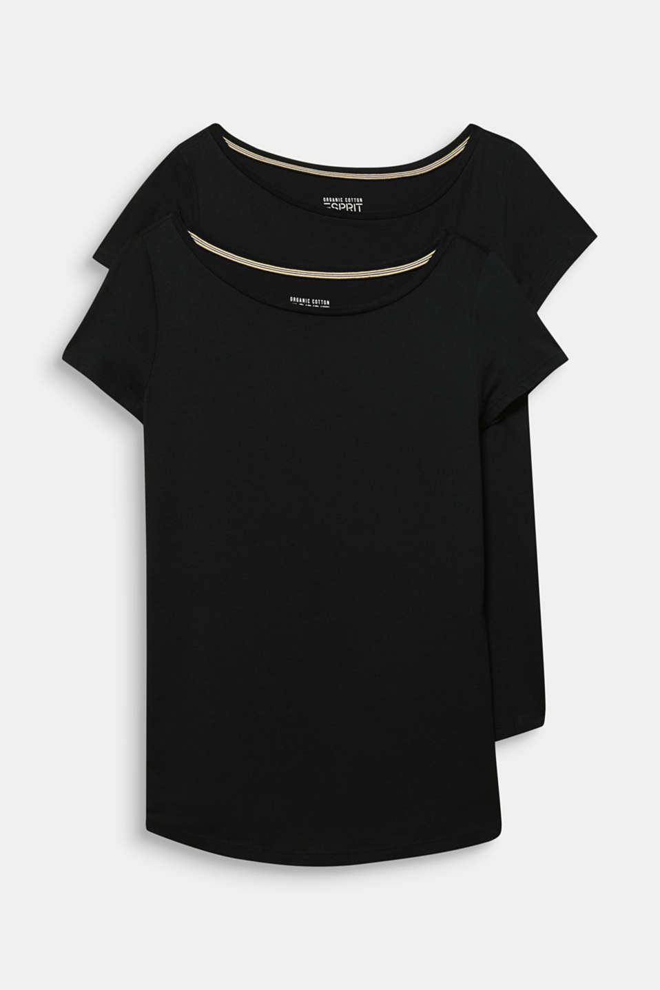 Double pack of T-shirts made of cotton and modal, BLACK, detail image number 6