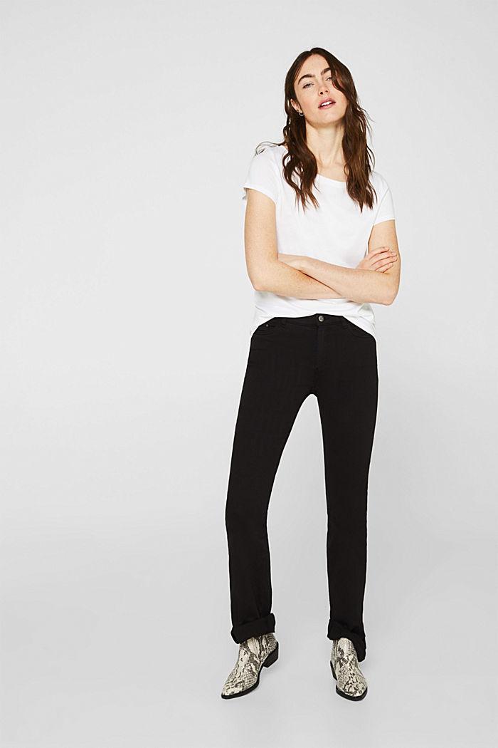 2er-Pack T-Shirts aus Baumwolle und Modal, WHITE, detail image number 1