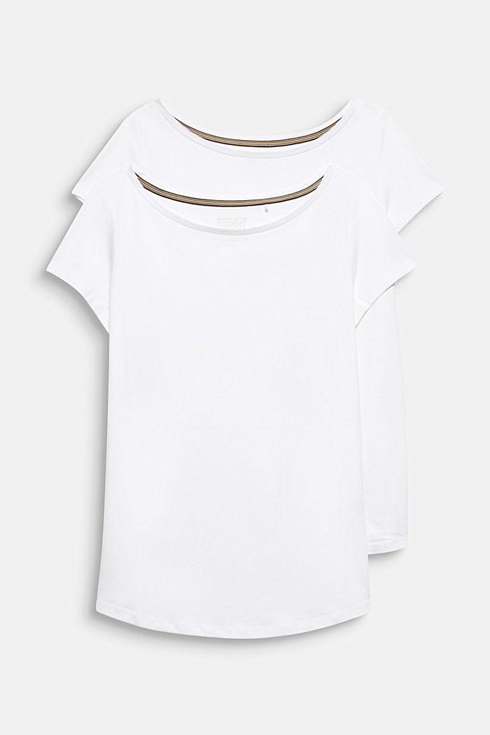 2er-Pack T-Shirts aus Baumwolle und Modal, WHITE, detail image number 5