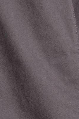Stretch cotton chinos with a belt, DARK GREY, detail