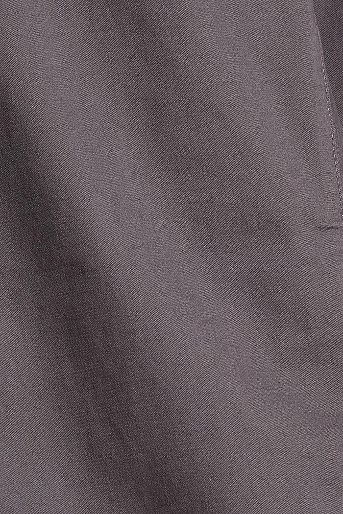 Stretch-Chino mit Gürtel, DARK GREY, detail image number 4