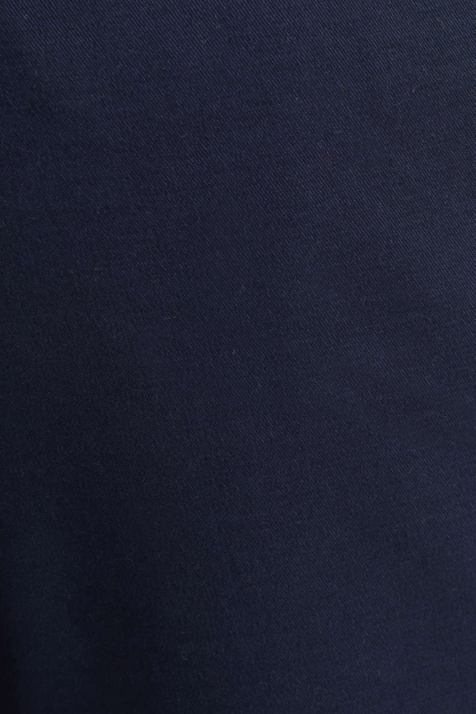Stretch cotton chinos with a belt, NAVY, detail image number 4
