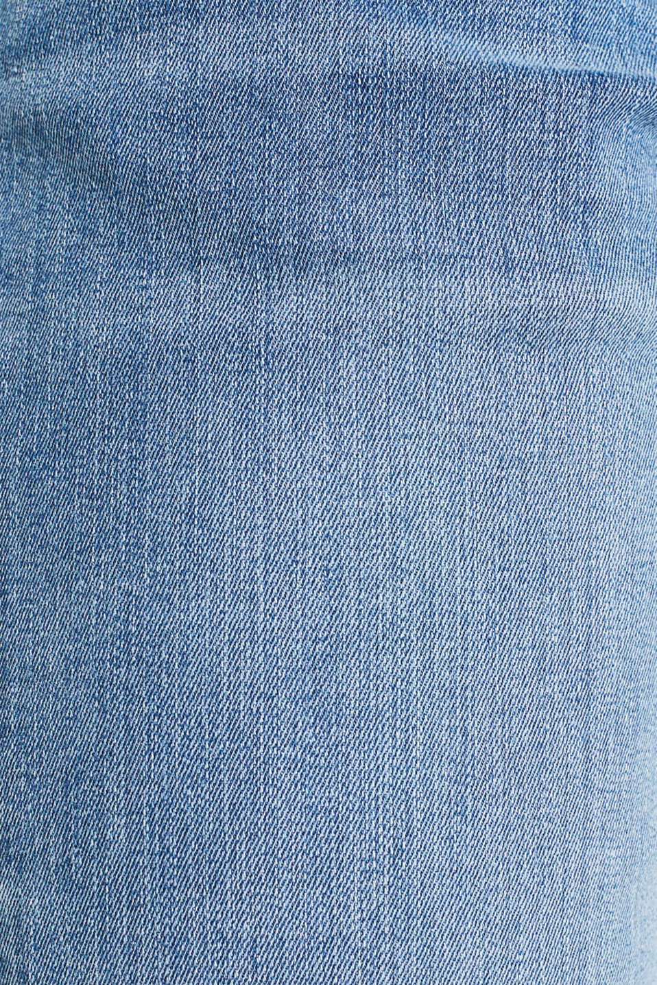 Super stretch jeans with whiskering, BLUE MEDIUM WASH, detail image number 4