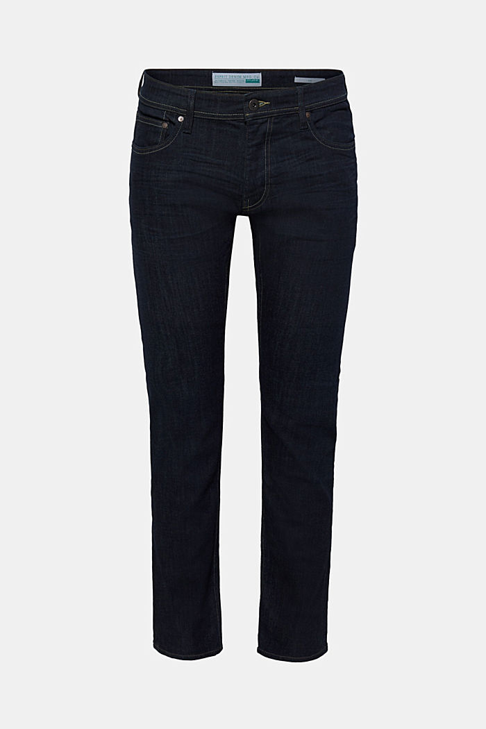 Stretch-Jeans mit Rinse-Waschung, BLUE RINSE, overview