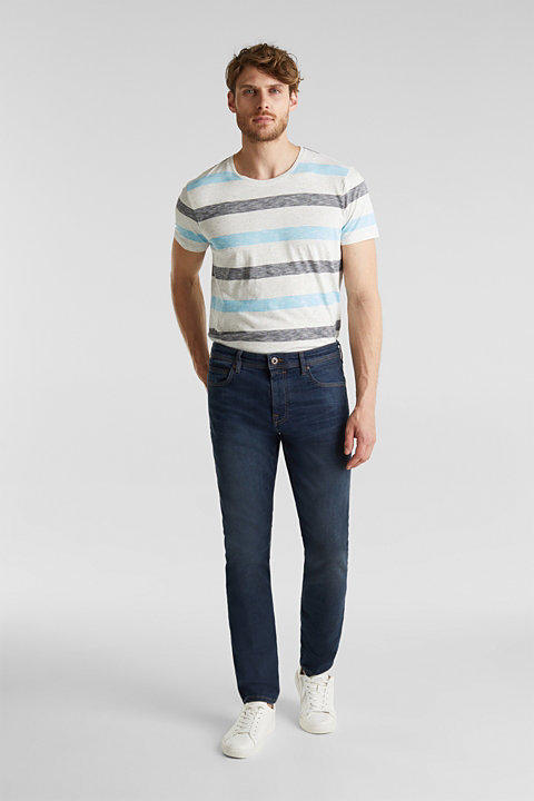 Super stretchy denim with washed-out areas