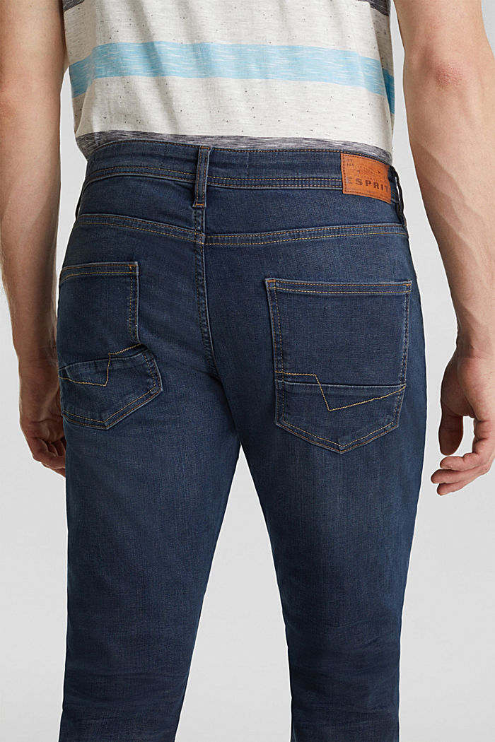 Superstretch-Denim im Basic-Look, BLUE DARK WASHED, detail image number 3