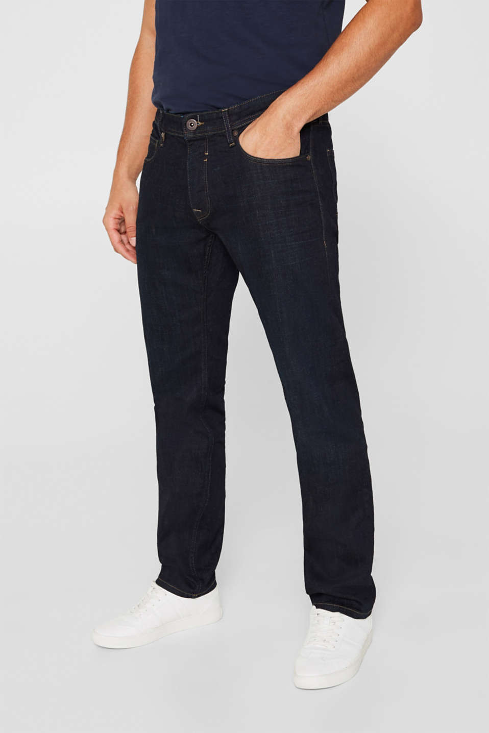 Pants denim Straight fit, BLUE RINSE, detail image number 0