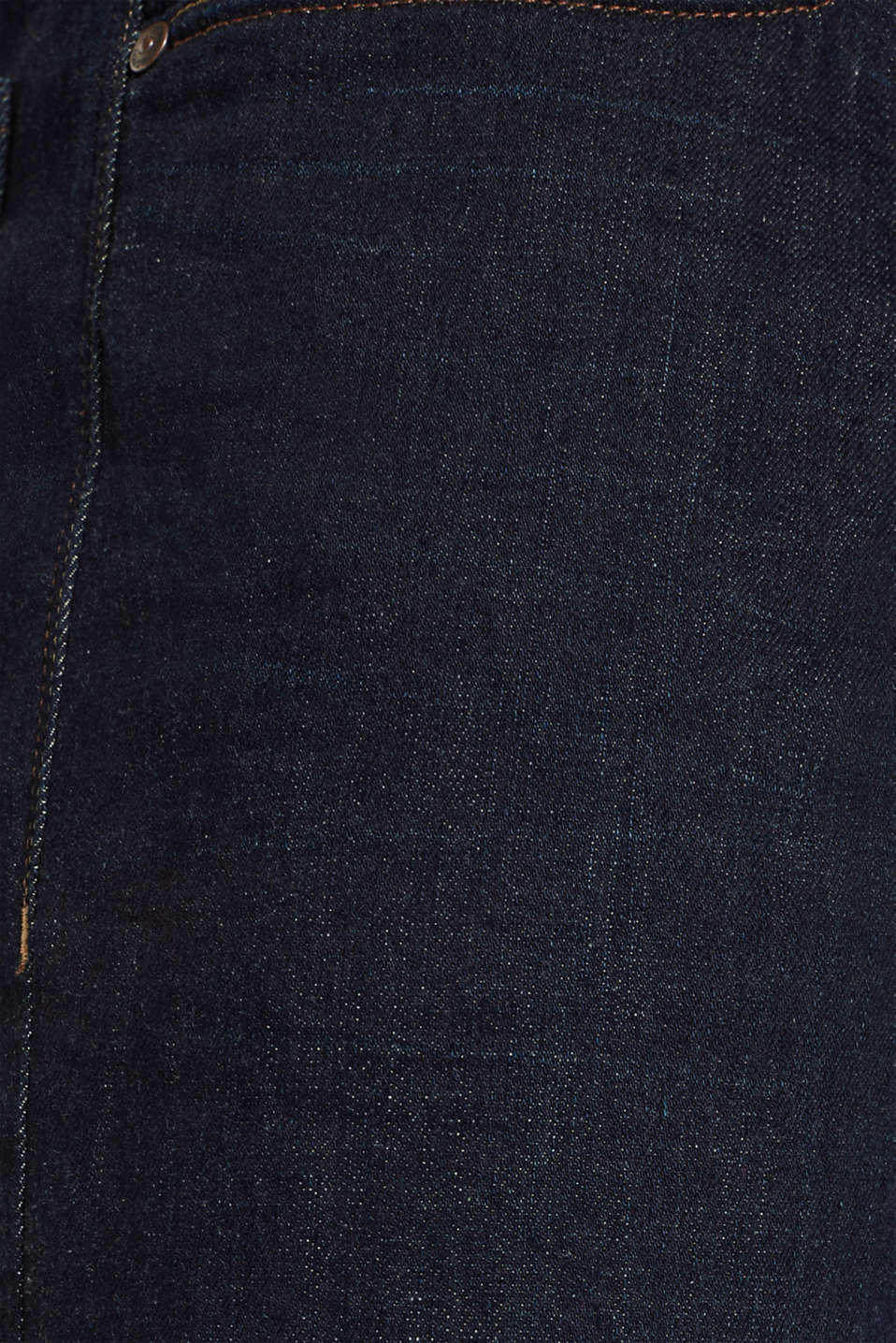 Rinse wash stretch jeans, BLUE RINSE, detail image number 5