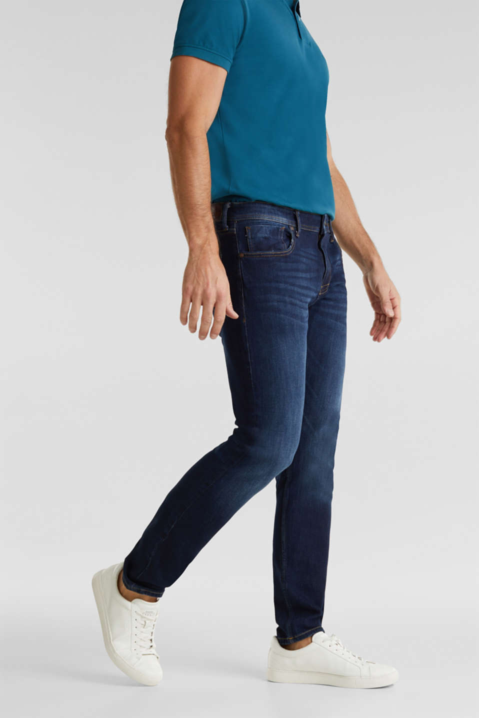 Esprit - Vintage wash two-way stretch jeans