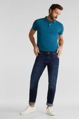 Vintage wash two-way stretch jeans, BLUE DARK WASH, detail