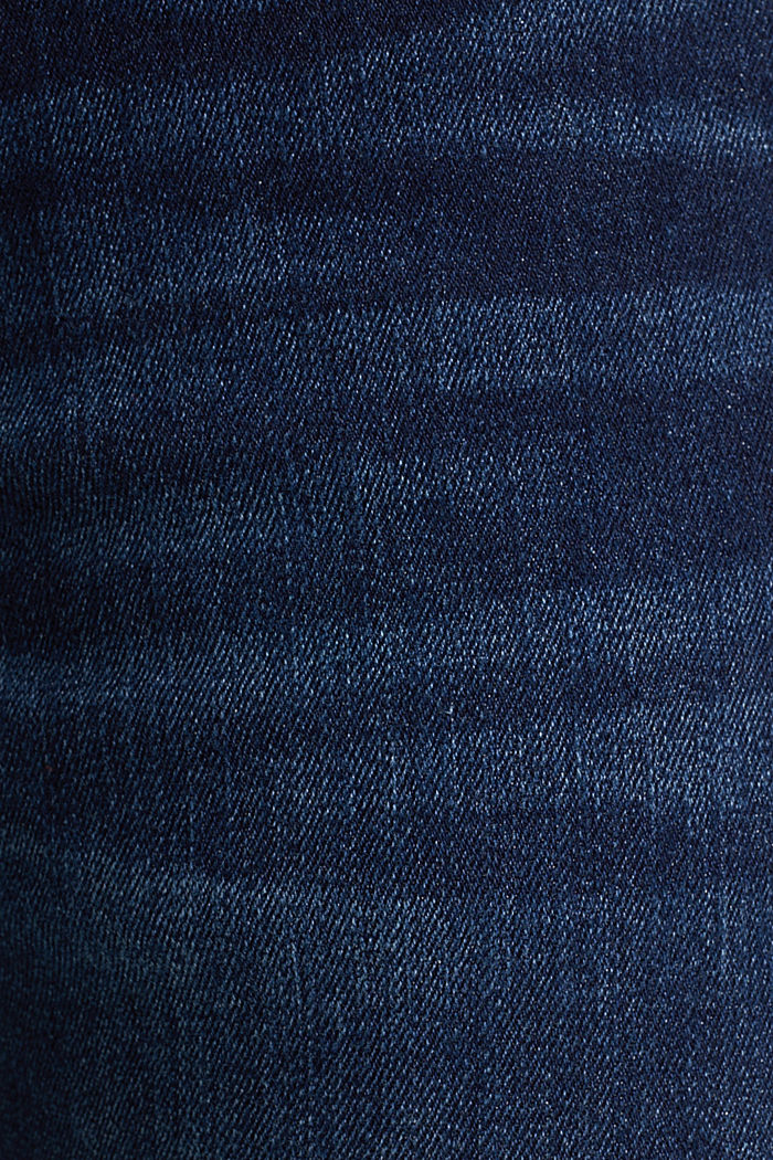 Bi-stretchjeans met used wassing, BLUE DARK WASHED, detail image number 5