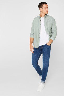 Vintage wash two-way stretch jeans, BLUE MEDIUM WASH, detail