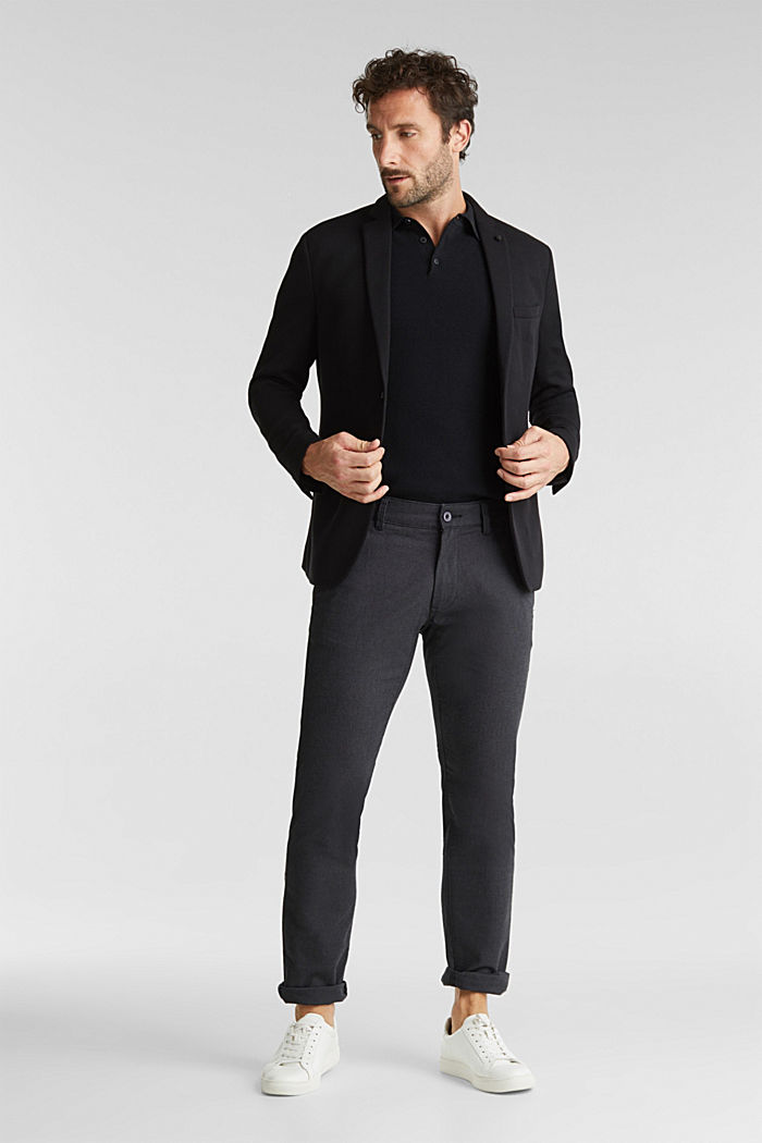 Textured brushed trousers