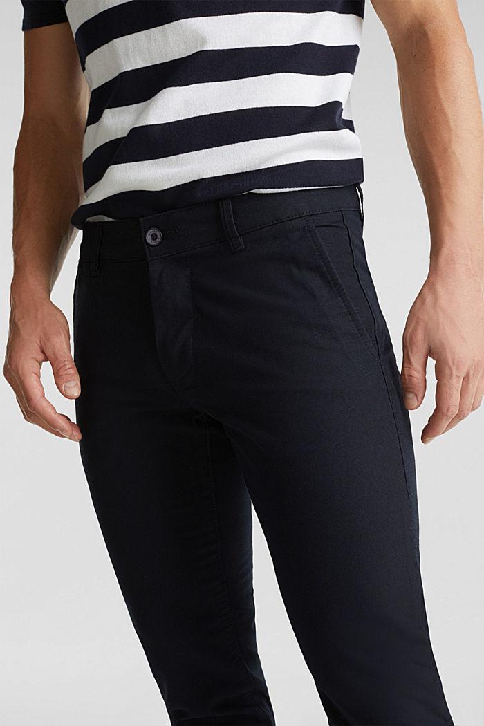Pantalones cepillados con textura, NAVY, detail image number 2