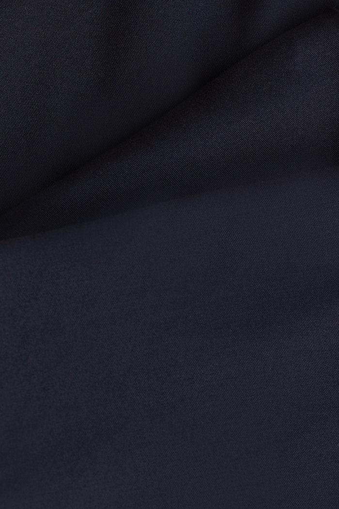 Pantalones cepillados con textura, NAVY, detail image number 4