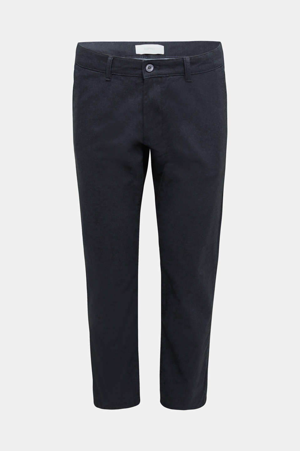Stretch twill trousers with a belt, NAVY, detail image number 5