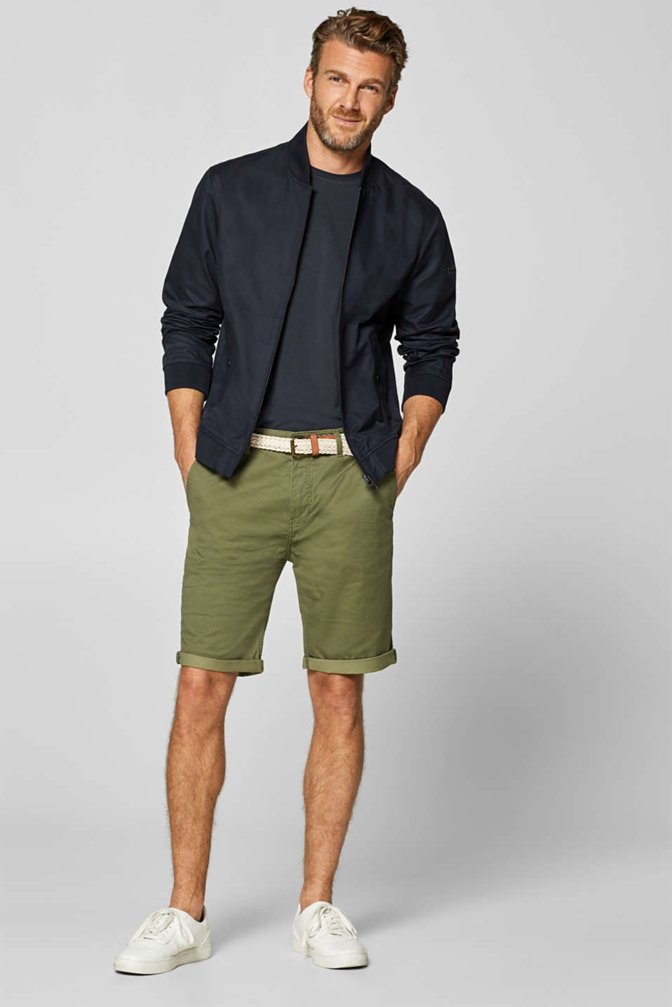 Shorts woven, OLIVE, detail image number 1
