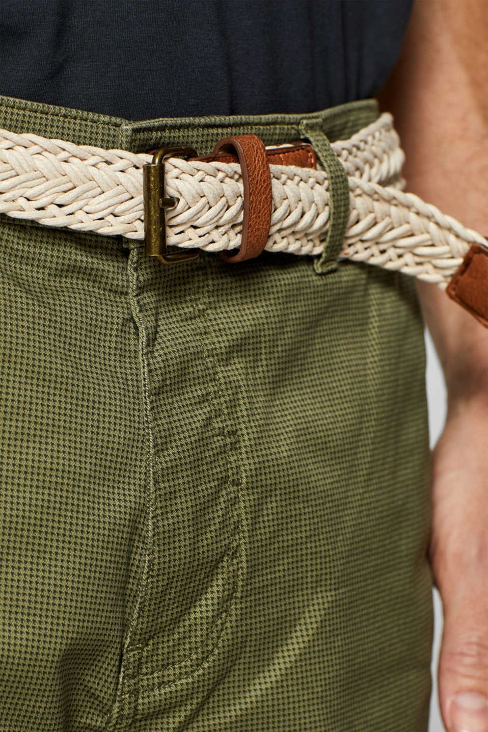 Shorts woven, OLIVE, detail image number 2
