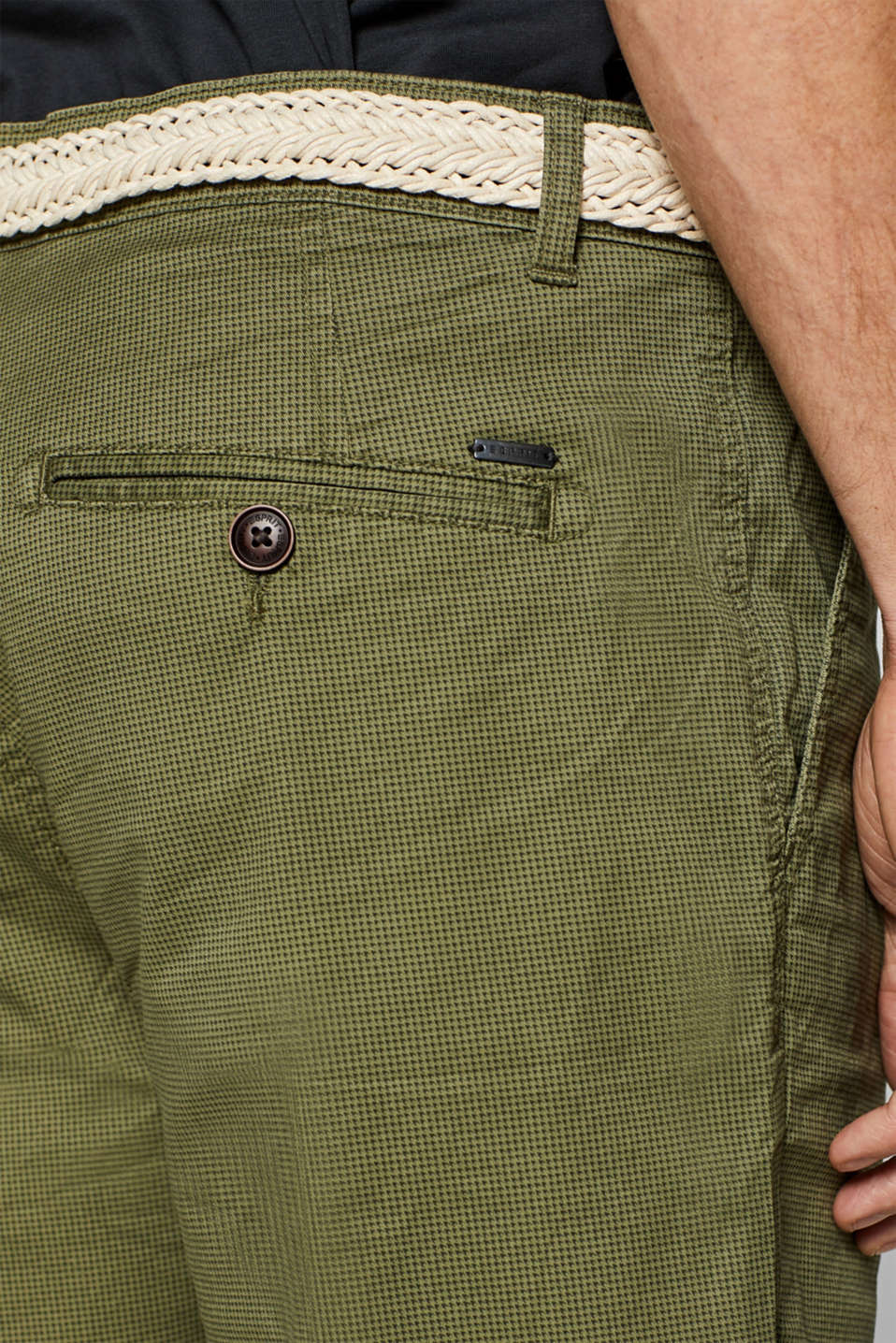 Shorts woven, OLIVE, detail image number 5