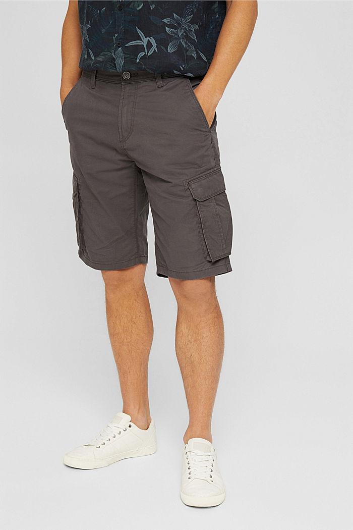 Cargo-Shorts aus 100% Baumwolle, DARK GREY, detail image number 0