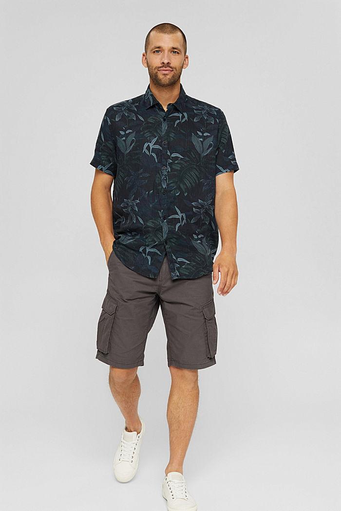 Cargo-Shorts aus 100% Baumwolle, DARK GREY, detail image number 1