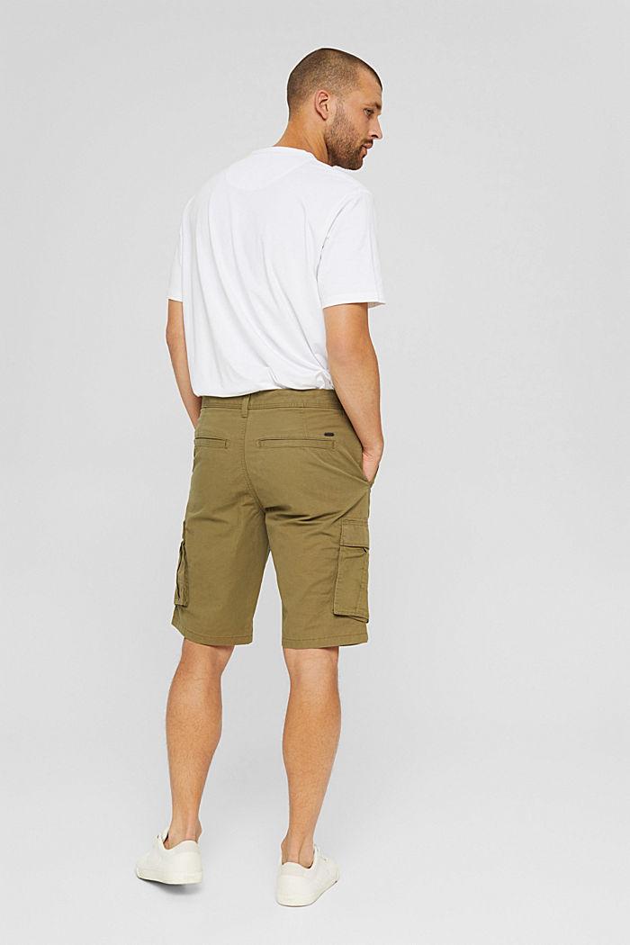 Pantaloncini stile cargo in 100% cotone, OLIVE, detail image number 3