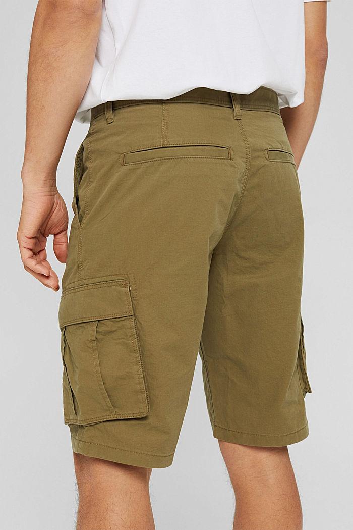 Pantaloncini stile cargo in 100% cotone, OLIVE, detail image number 4
