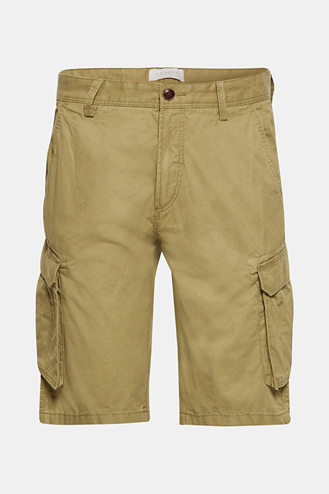 Cargo shorts in 100% cotton