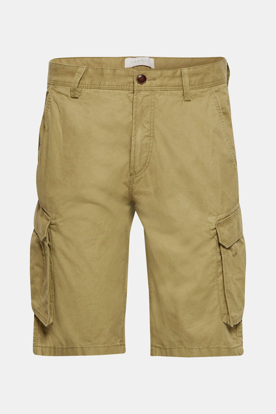 Cargo shorts in 100% cotton, OLIVE, detail image number 5