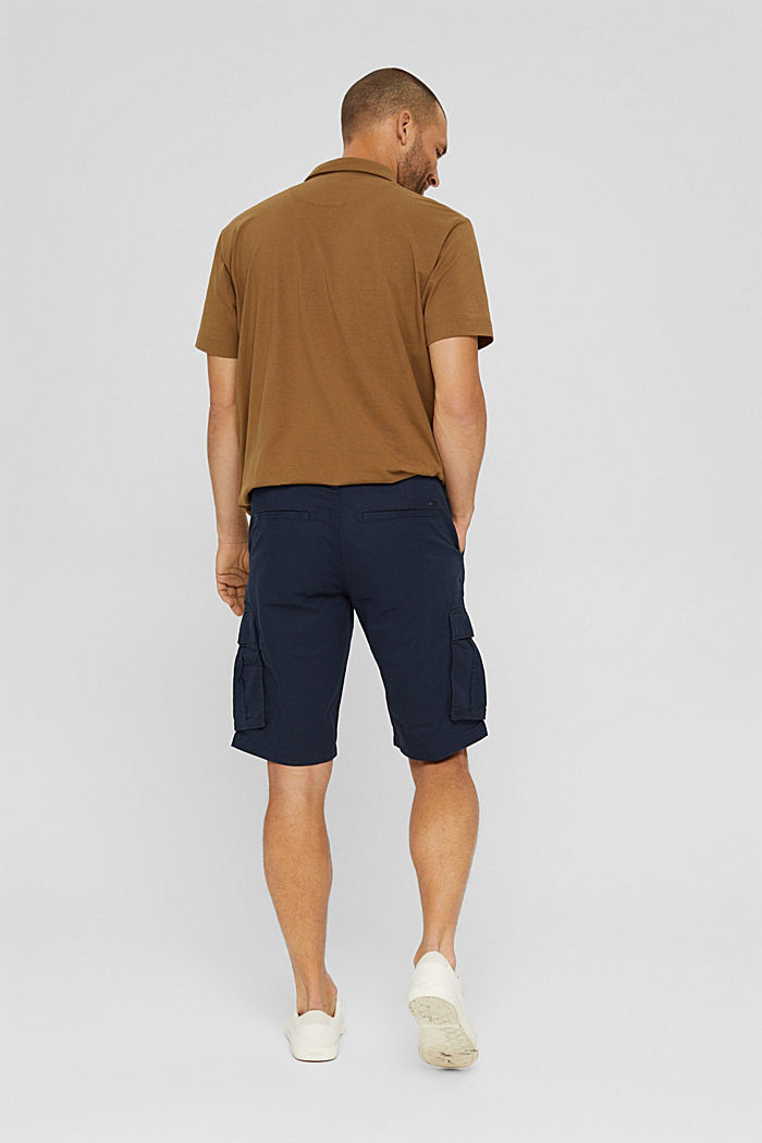 Cargo shorts in 100% cotton, NAVY, detail image number 3