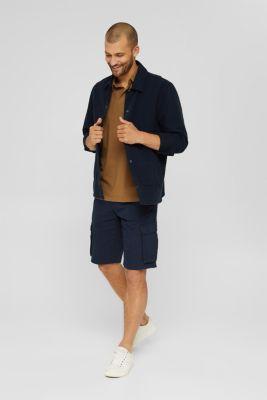 Cargo shorts in 100% cotton, NAVY, detail