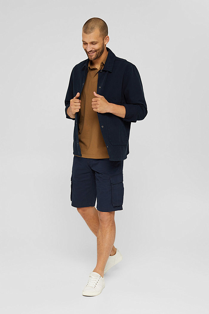 Cargo shorts in 100% cotton, NAVY, detail image number 1