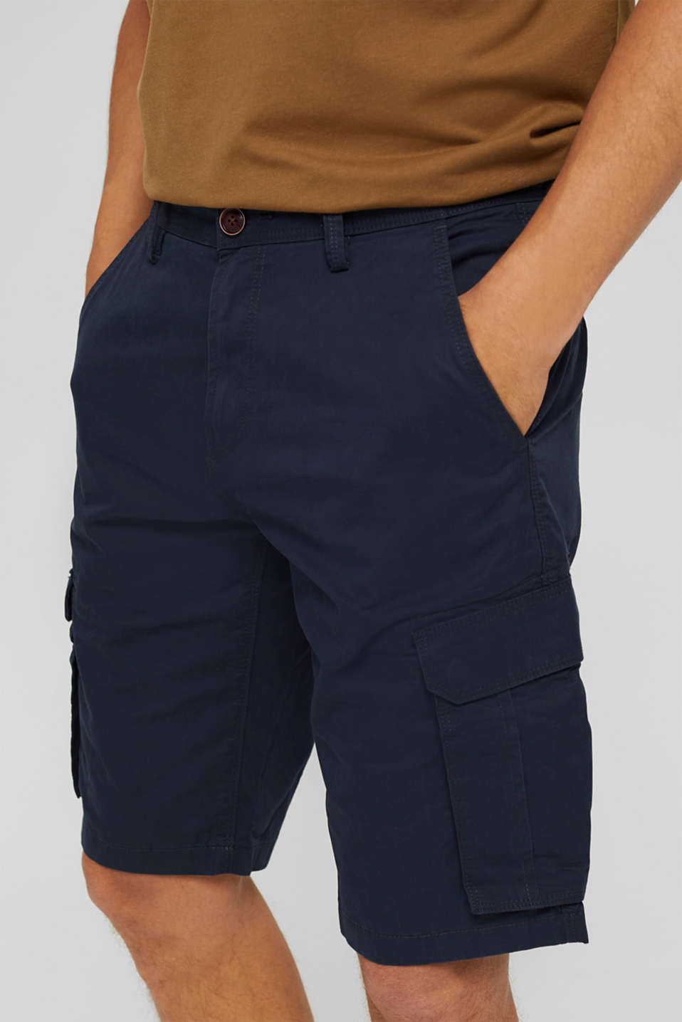 Cargo shorts in 100% cotton, NAVY, detail image number 2