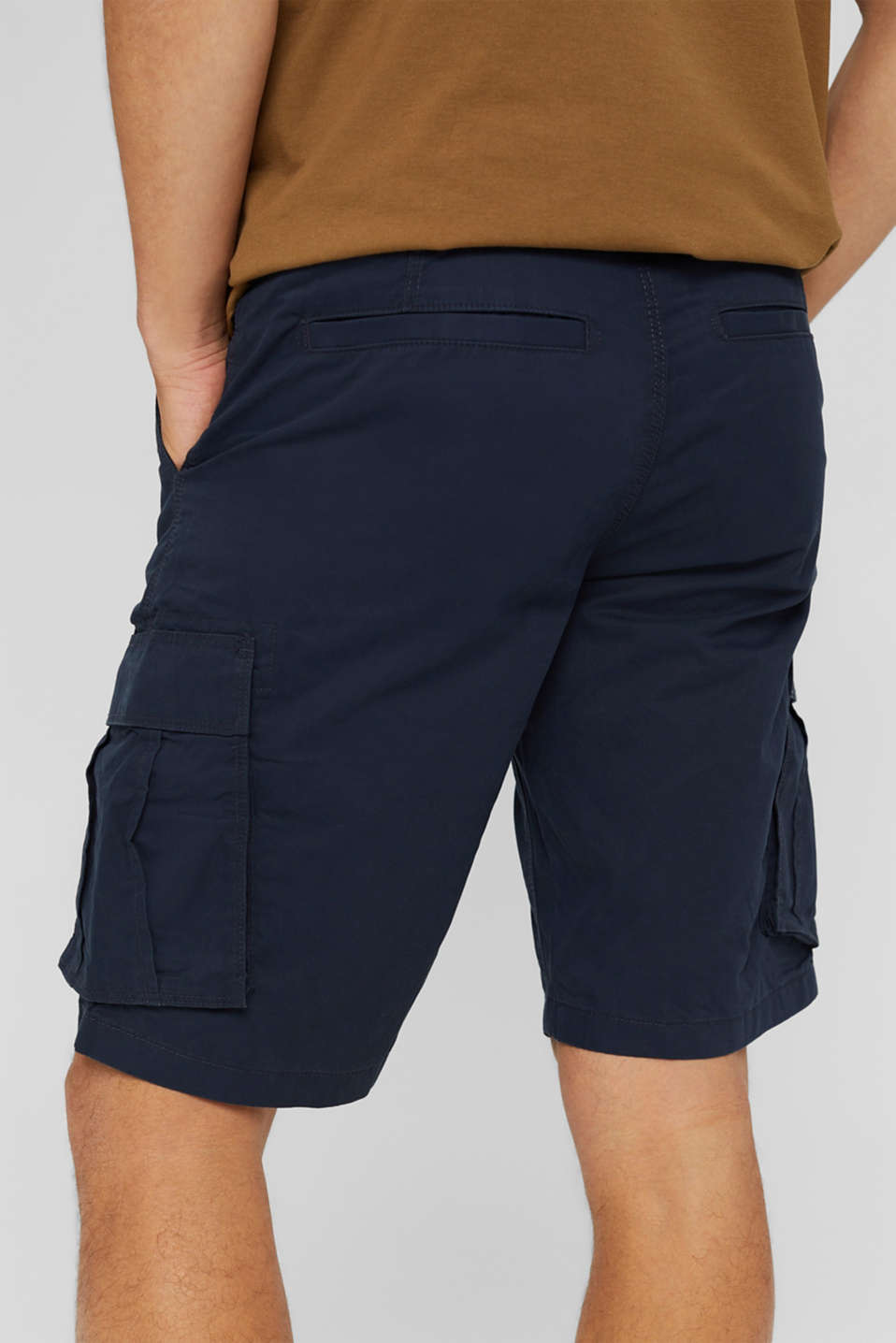 Cargo shorts in 100% cotton, NAVY, detail image number 5