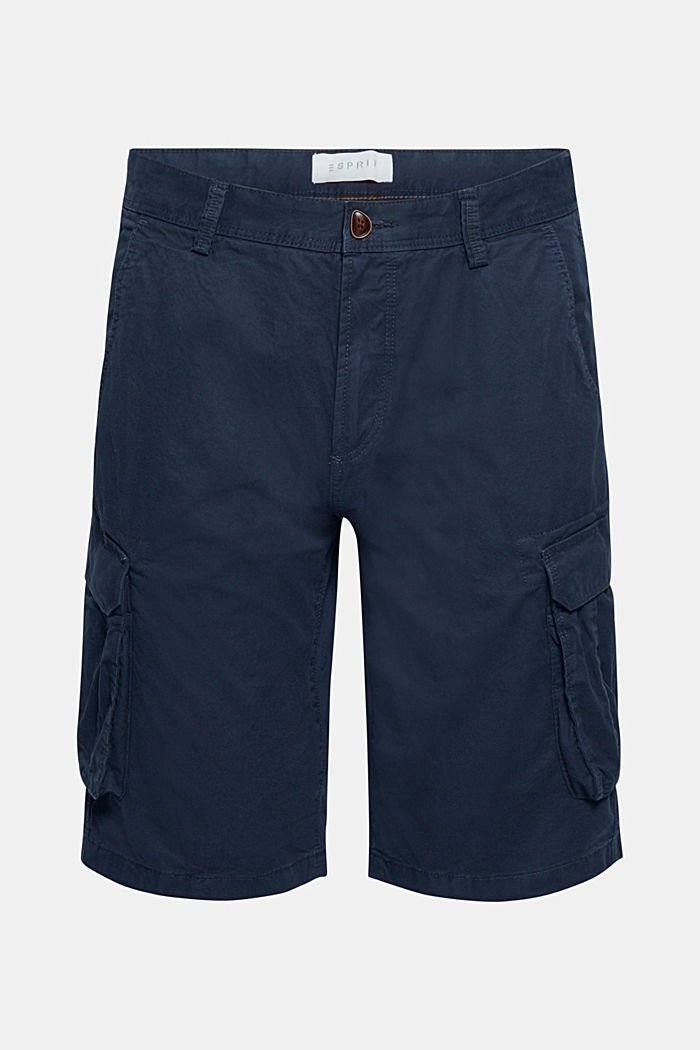 Cargo-Shorts aus 100% Baumwolle, NAVY, overview
