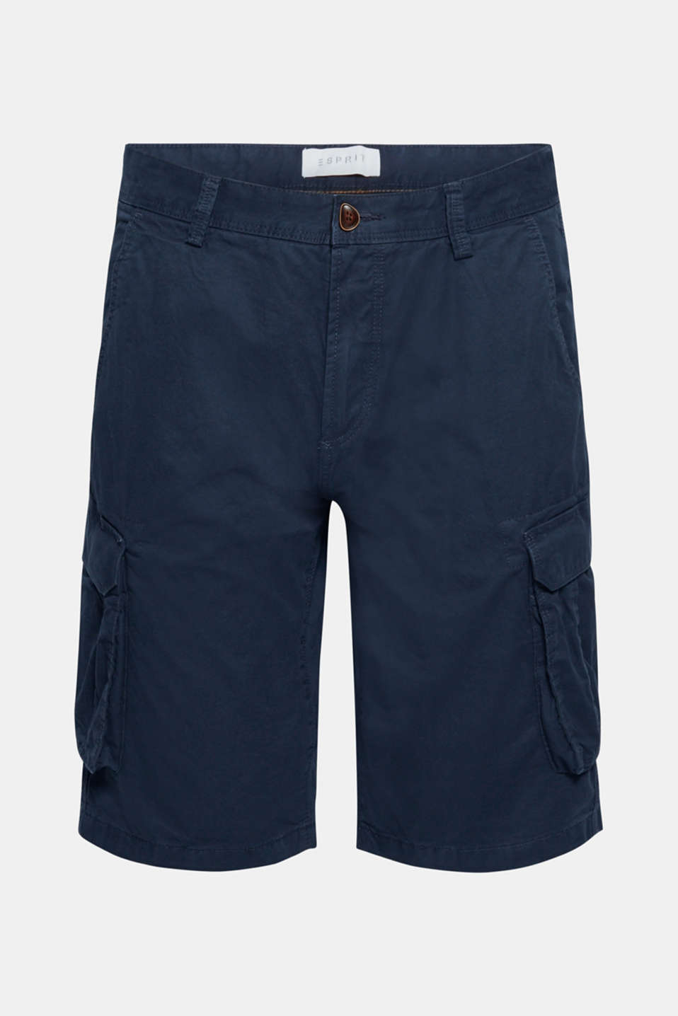 Cargo shorts in 100% cotton, NAVY, detail image number 7