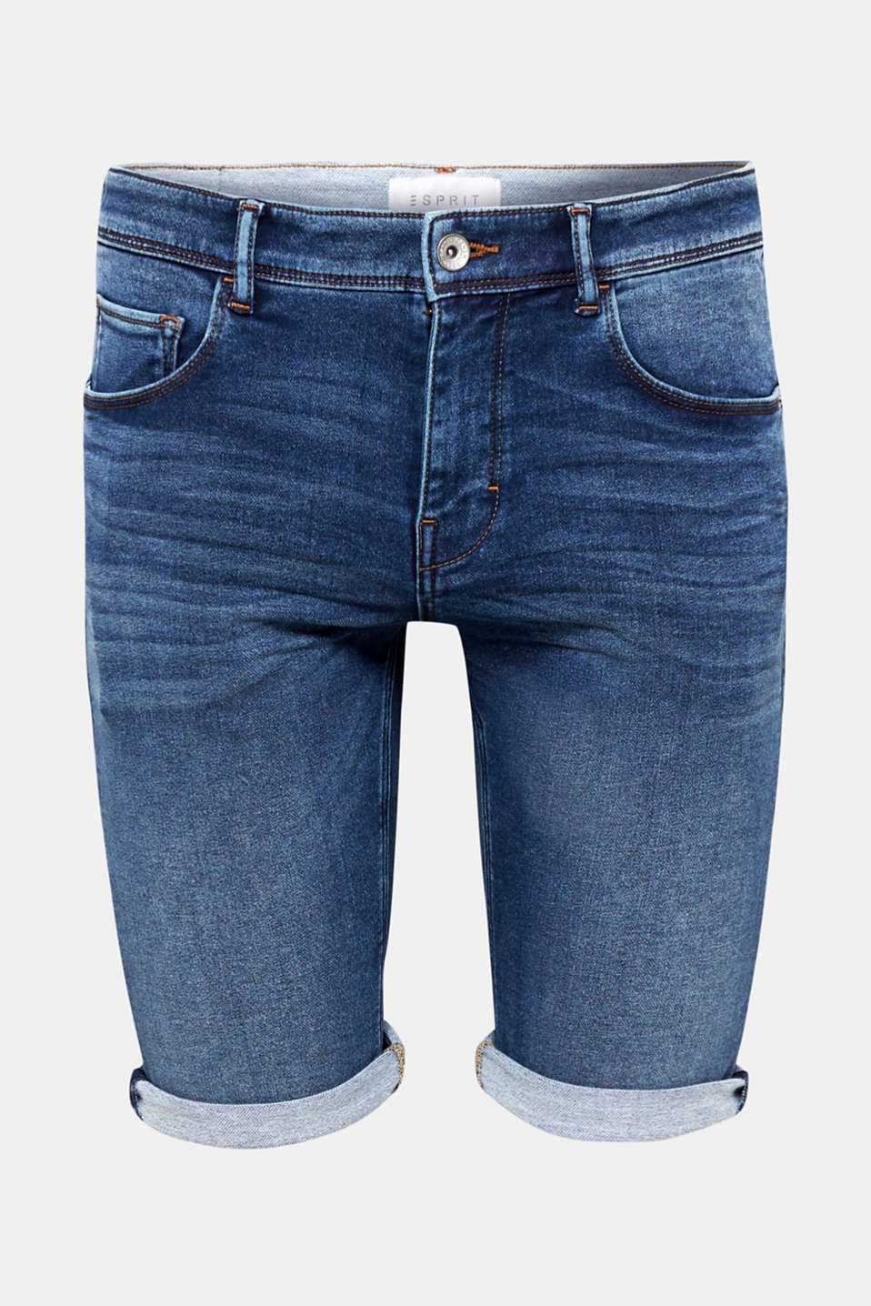 Esprit - Superstretch-Jeansshort in Jogger-Qualität