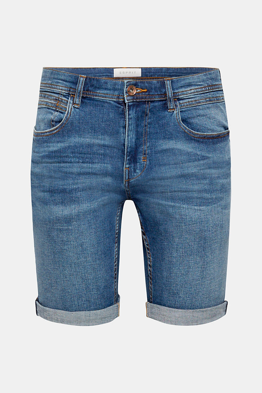 Jeans-Shorts als Baumwoll-Stretch