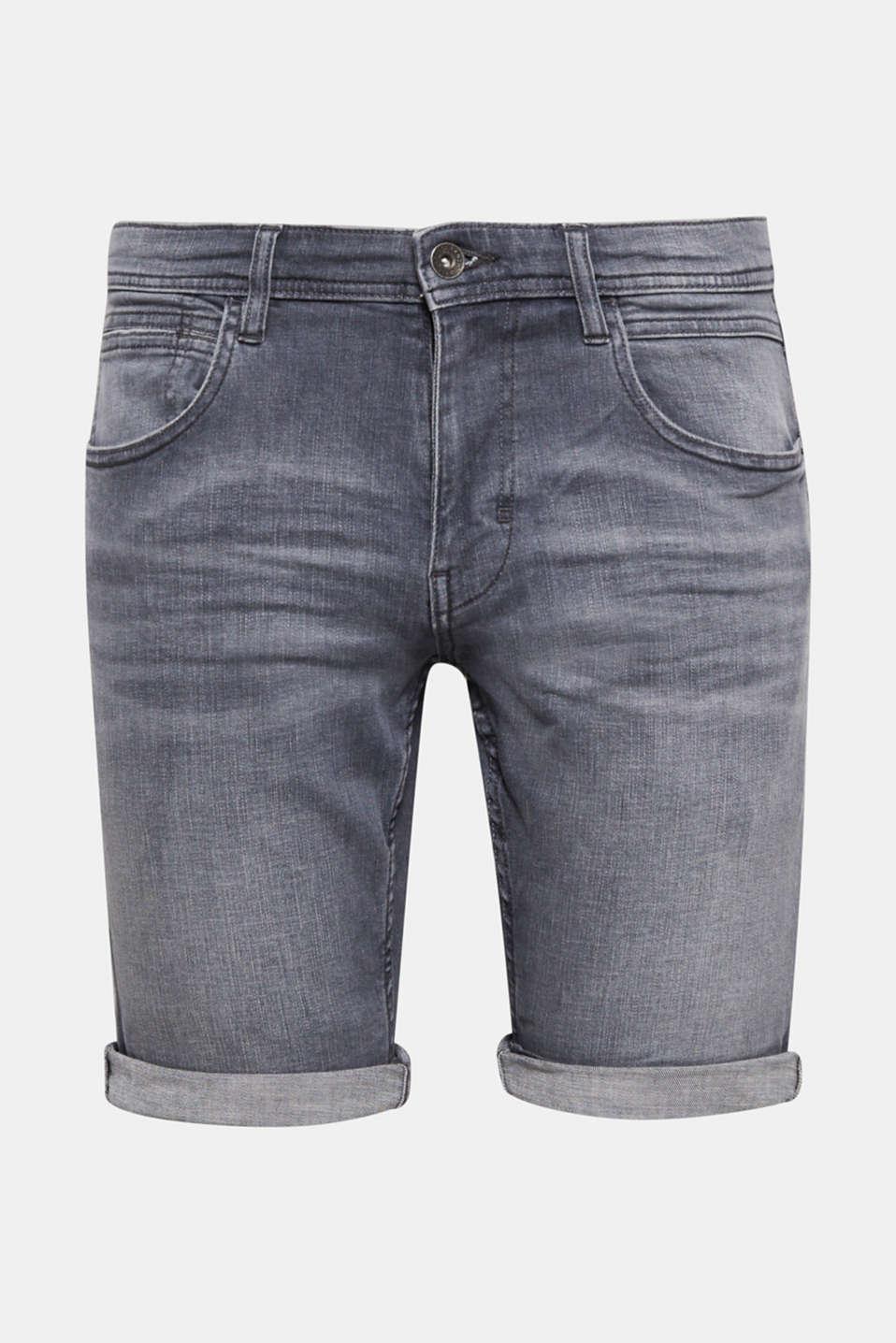Shorts denim, GREY MEDIUM WASH, detail image number 5